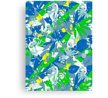 Brazil Splash Pepe Psyche Canvas Print