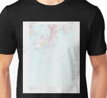 USGS TOPO Map Rhode Island RI Newport 353323 1957 24000 Unisex T-Shirt