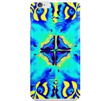 Modern turquoise patterned tigers eyes iPhone Case/Skin