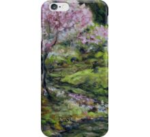 Cherry Blossoms Mayne Island Japanese Garden iPhone Case/Skin