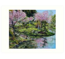 Cherry Blossoms Mayne Island Japanese Garden Art Print