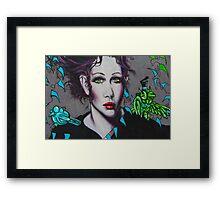 Graffiti Women Framed Print