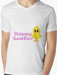 Happy Easter Chick Mens V-Neck T-Shirt