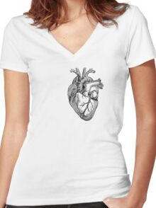 Coeur Anatomique Women's Fitted V-Neck T-Shirt