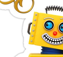 Just keep on going - funny toy robot Sticker