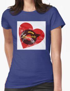 Heart Beat Womens Fitted T-Shirt