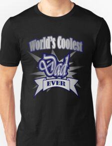 Father's day Grunge typography World's Coolest Dad  Unisex T-Shirt