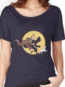Tintin & Snowy Women's Relaxed Fit T-Shirt