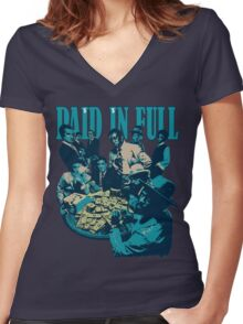 paid in full  Women's Fitted V-Neck T-Shirt