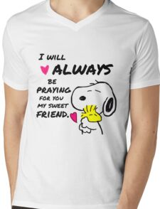 Snoopy Best Friend Quotes Mens V-Neck T-Shirt