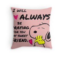 Snoopy Best Friend Quotes Throw Pillow