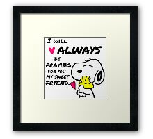 Snoopy Best Friend Quotes Framed Print