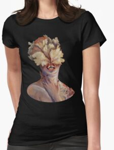 nude portrait Womens Fitted T-Shirt