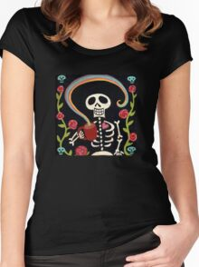 Rainbow Skelly Women's Fitted Scoop T-Shirt
