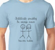 One testicle Unisex T-Shirt