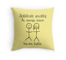 One testicle Throw Pillow