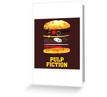 Pulp Fiction Burger Greeting Card