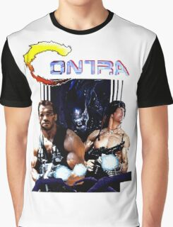 Contra Game Parody Graphic T-Shirt