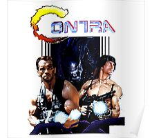 Contra Game Parody Poster