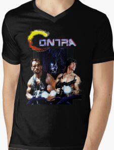 Contra Game Parody Mens V-Neck T-Shirt