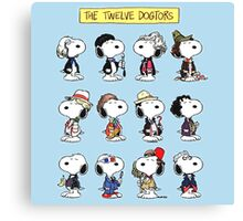 Snoopy Doctors Collage Canvas Print