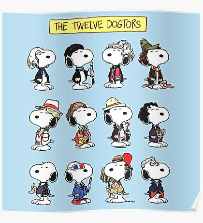 Snoopy Doctors Collage Poster