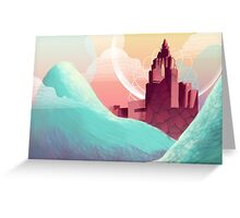 Red Temple Greeting Card