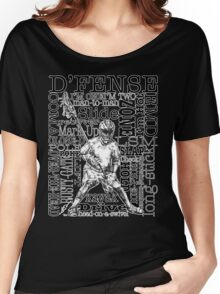 Word Montage-D'FENSE (border) Women's Relaxed Fit T-Shirt