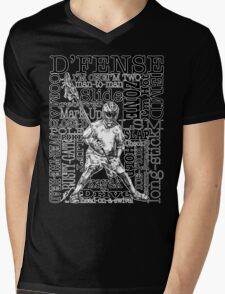 Word Montage-D'FENSE (border) Mens V-Neck T-Shirt