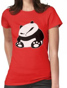 Angry Panda Womens Fitted T-Shirt