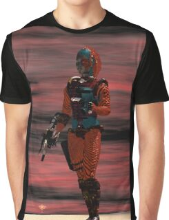 ARES CYBORG FROM HYPERION WORLD Sci-Fi Movie Graphic T-Shirt