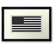 American Flag - Black and White Version Framed Print