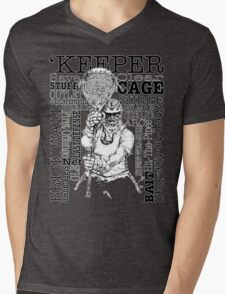 Word Montage-'KEEPER (border) Mens V-Neck T-Shirt