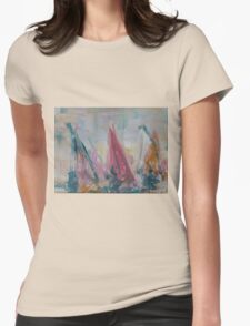Wind Surfing Race Womens Fitted T-Shirt