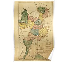 Map of Boston Massachusetts (1805) Poster