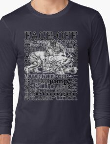 Word Montage-FACE-OFF (border) Long Sleeve T-Shirt