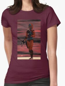 ARES CYBORG FROM HYPERION WORLD Sci-Fi Movie Womens Fitted T-Shirt