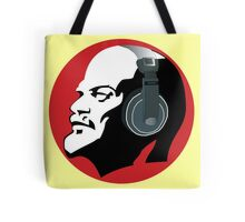 Lenin with Headphones Tote Bag