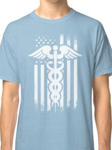 Nurses Caduceus Vintage Flag Classic T-Shirt