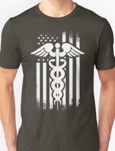 Nurses Caduceus Vintage Flag Unisex T-Shirt