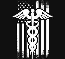 Nurses Caduceus Vintage Flag Womens Fitted T-Shirt