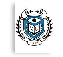 Monsters University Logo Canvas Print
