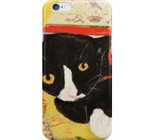 George Myrick - Christmas Bag Cat iPhone Case/Skin
