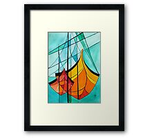 Abstract Boats Framed Print