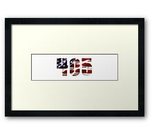 405 American Flag - Oklahoma Metro Framed Print