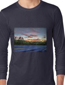 Pretty Sunrise On The Road Long Sleeve T-Shirt