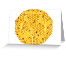Beehive and Honeycomb Greeting Card