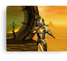 CYBORG TITAN IN THE DESERT OF HYPERION Sci-Fi Movie Canvas Print