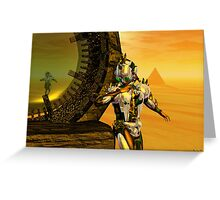 CYBORG TITAN IN THE DESERT OF HYPERION Sci-Fi Movie Greeting Card