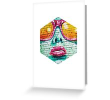 Graffiti Beauty Greeting Card